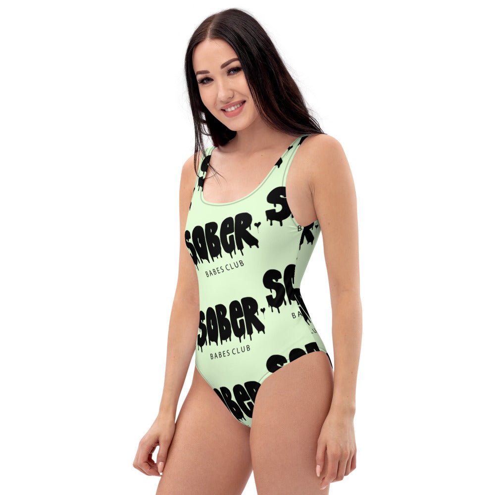 SOBER BABES CLUB One-Piece Swimsuit