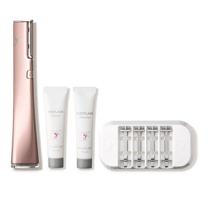 DERMAFLASH RX - ROSE GOLD- A facial device that exfoliates the skin for a smoother complexion.