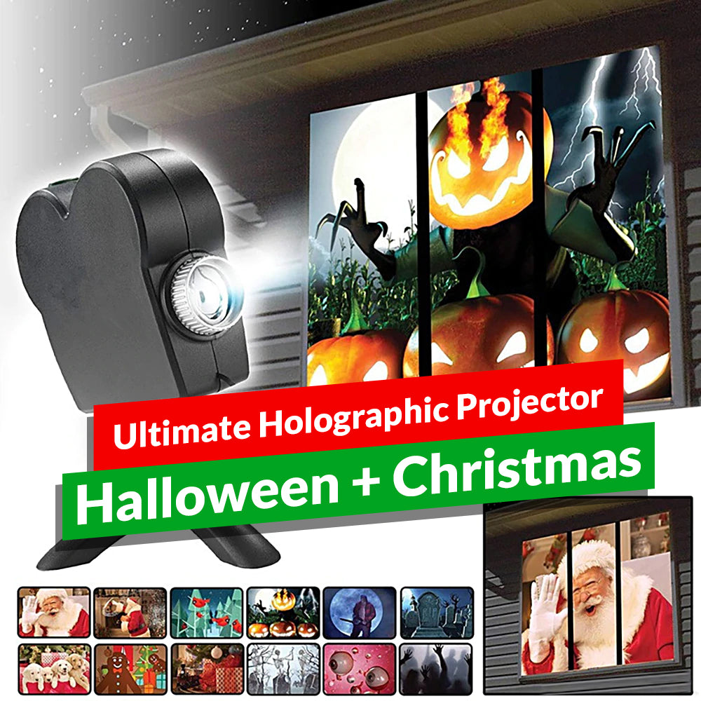 Ultimate Holographic Projector - Halloween + Christmas