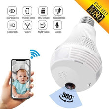 Load image into Gallery viewer, Eagle Eye - 360° Panoramic Security Bulb