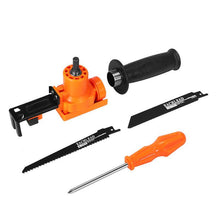 Load image into Gallery viewer, 5-Piece Electric Drill Reciprocating Saw Attachment