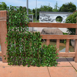 Expandible Faux Ivy Privacy Fence