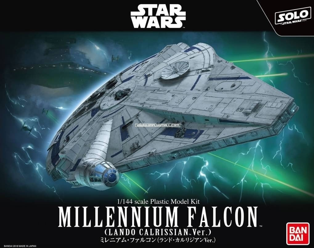 "Bandai Millennium Falcon (Lando Calrissian Ver) ""Solo: A Star Wars Story"", Bandai Star Wars 1/144 Plastic Model Kit 