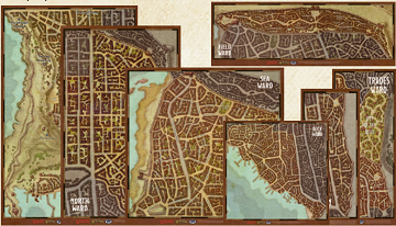 DUNGEONS & DRAGONS MAP SET WATERDEEP WARDS | LA Mood Comics and Games