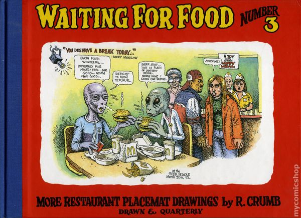 WAITING FOR FOOD CRUMB PLACEMAT DRAWINGS VOL 3 HC | L.A. Mood Comics and Games