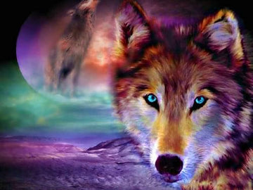Full Moon Wolf - 5D Diamond Painting Kit