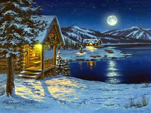 Cottage in the snow - 5D Diamond Painting kits