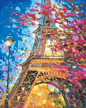 Colourful Eiffel Tower