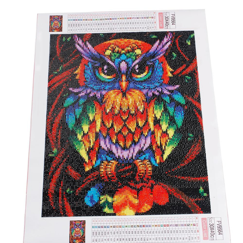Colourful Owl - 5D Diamond Painting kit