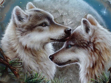 Wolves #3 - 5D Diamond Painting Kit