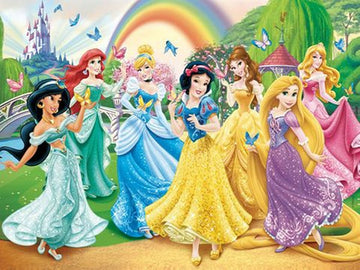 Disney Princesses - Colourful - 5D Diamond Painting Kit