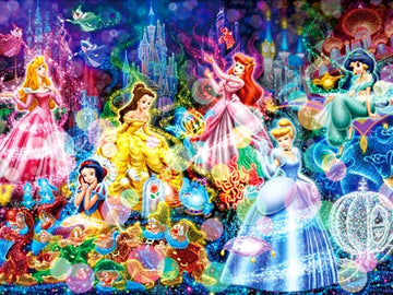 Glowing Disney Princesses - 5D Diamond Painting Kit