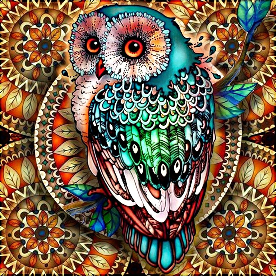 Artistic Owl - 5D Diamond Painting Kit
