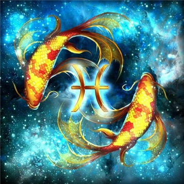 Starsign Pisces Zodiac Collection - 5D Diamond Painting Kit