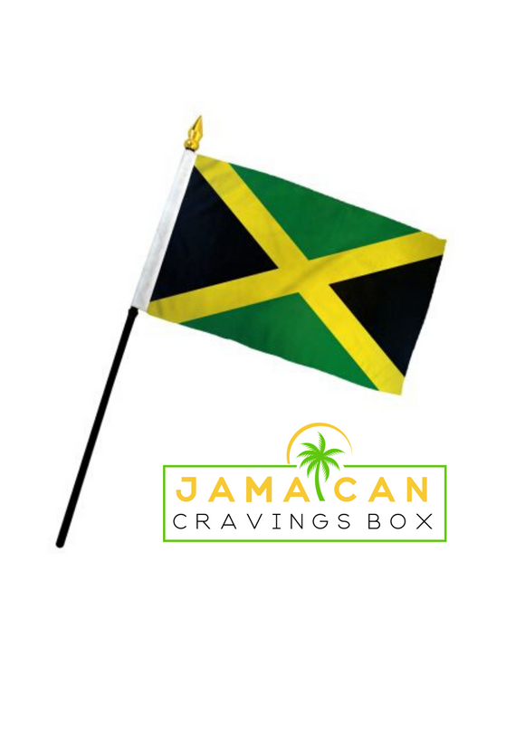 jamaican cravings box mini handheld jamaican flag