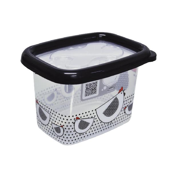RECIPIENTE GALLINA RECTANGULAR 650ML