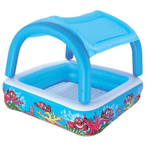 PISCINA INFLABLE CON CUBIERTA  58 X48""