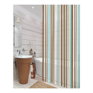 CORTINA DE BAÑO C/GANCHOS STRIPES MULTI