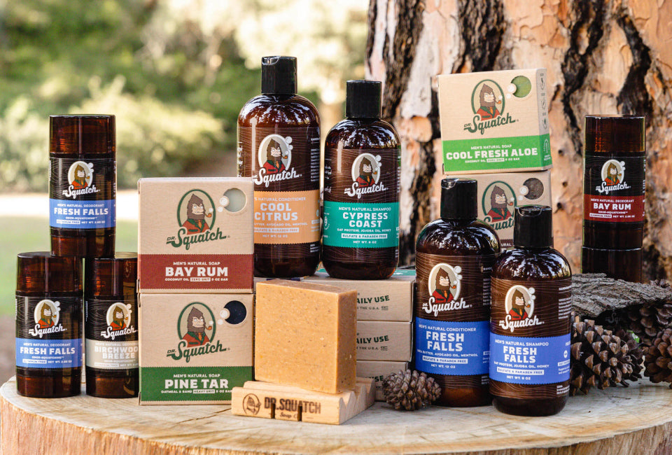 dr squatch skin and hygiene products