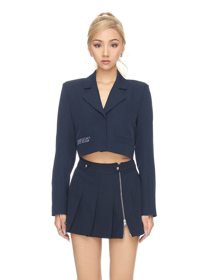 Cropped Uniform Blazer