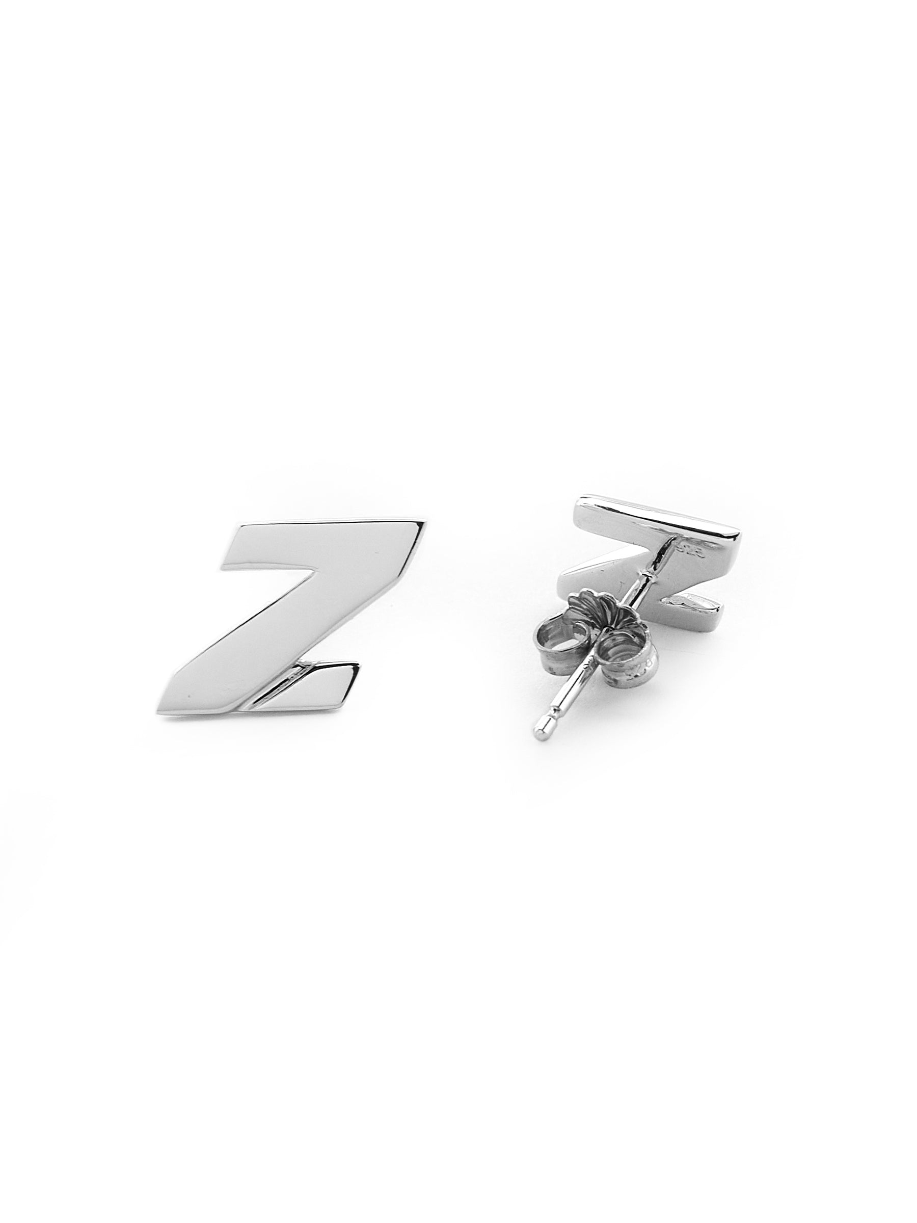 Mini Z Stud Earrings (For China shipping only)