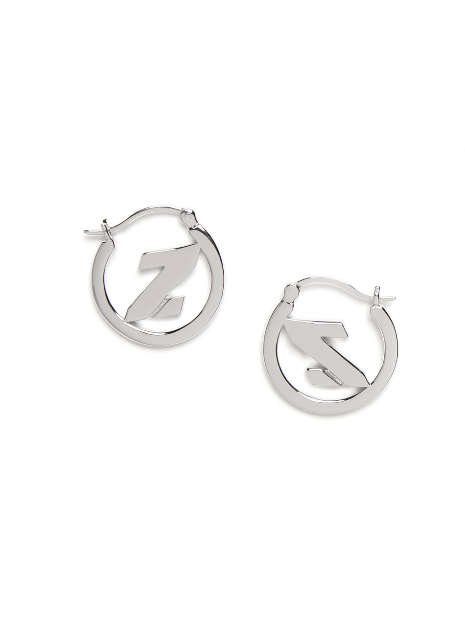 Mini Z Hoop Earrings (For China shipping only)