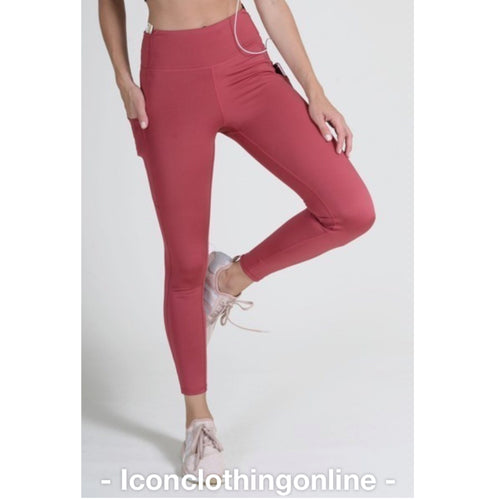 High-rise workout capri leggings