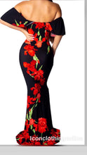 Load image into Gallery viewer, One piece maxi dress off shoulder