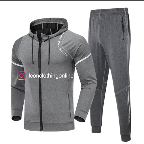 Men's night running training tracksuit