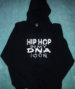 """ HIPHOP IN MY DNA ICON"" HOODIES"