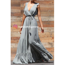 Load image into Gallery viewer, Maxi dress ruffled