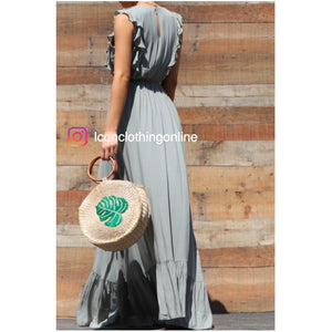 Maxi dress ruffled