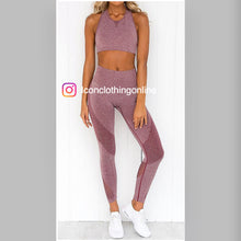 Load image into Gallery viewer, Stretch-knit sports bra matching leggings