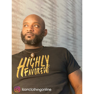 "2XL/3XL T-SHIRTS ""HIGHLY FAVORED"" ICON"
