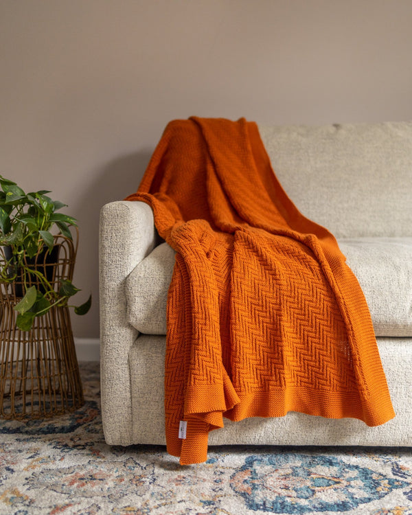 Alana Organic Cotton Knit Throw - YaYa & Co.