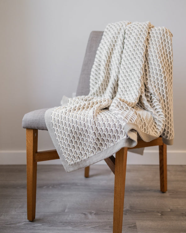 Arlen Organic Cotton Knit Throw - YaYa & Co.