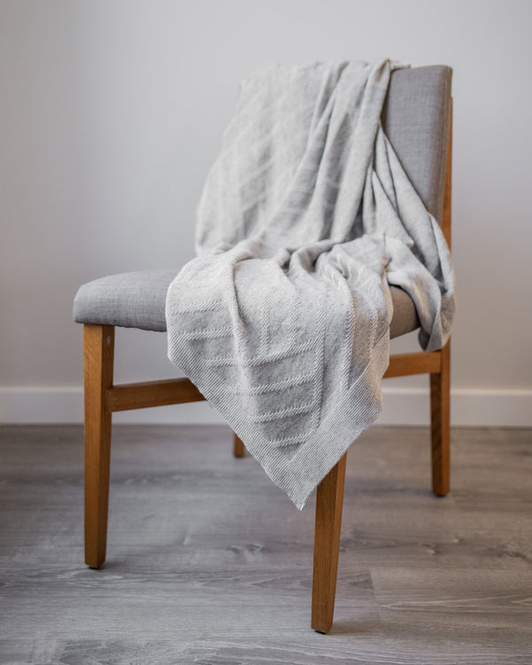 Baylor Organic Cotton Knit Throw - YaYa & Co.