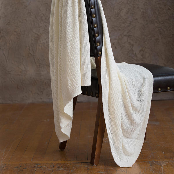 Becky Organic Cotton Knit Throw - YaYa & Co.