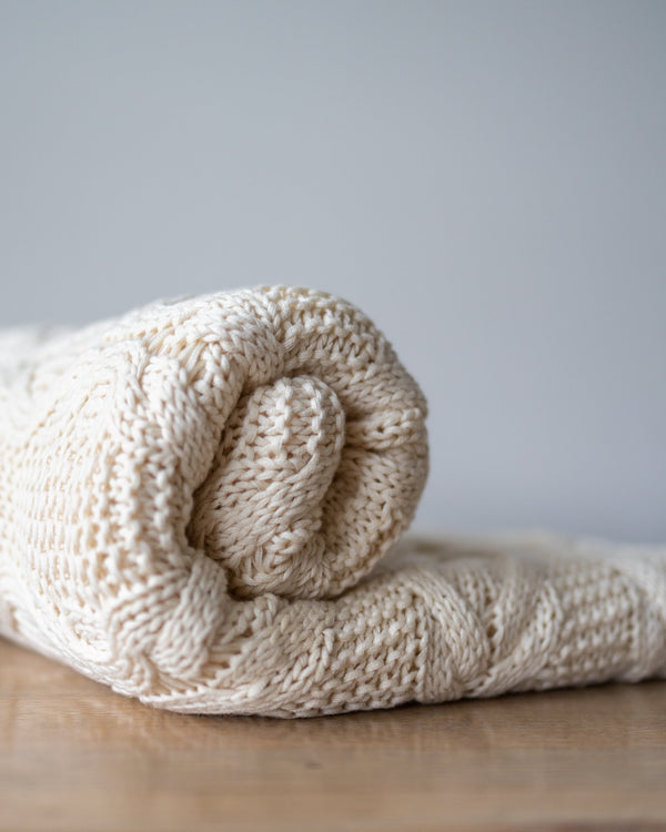 Brady Organic Cotton Knit Throw - YaYa & Co.