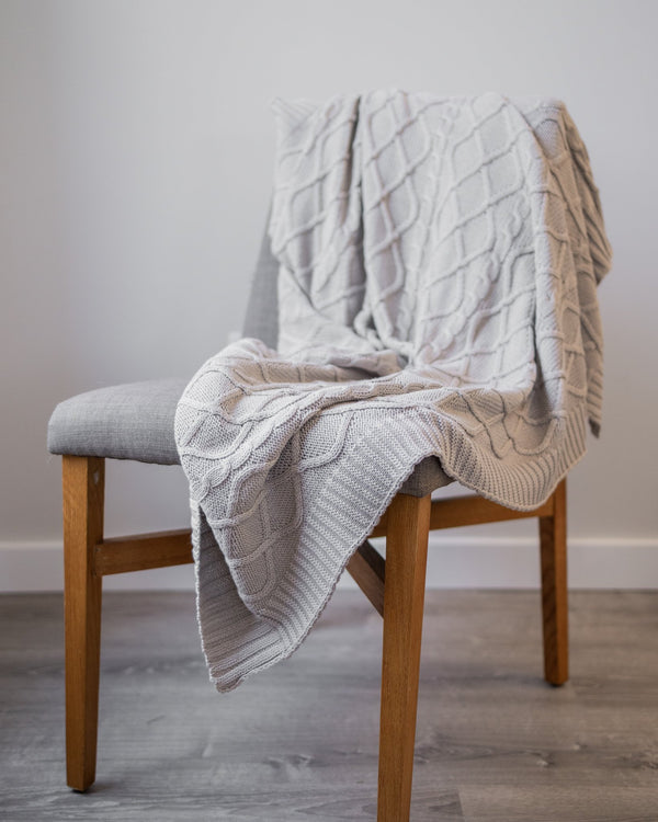 Braeton Organic Cotton Knit Throw - YaYa & Co.