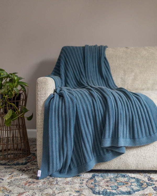 Brooklyn Organic Cotton Knit Throw - YaYa & Co.