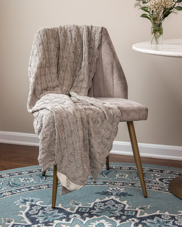 Emma Organic Cotton Knit Throw - YaYa & Co.