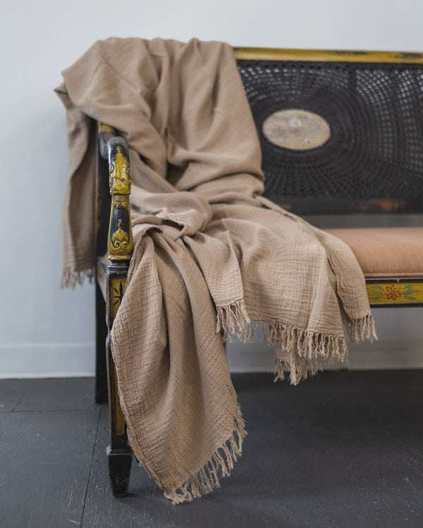 Giselly Organic Cotton Oversized Throw Blanket - YaYa & Co.