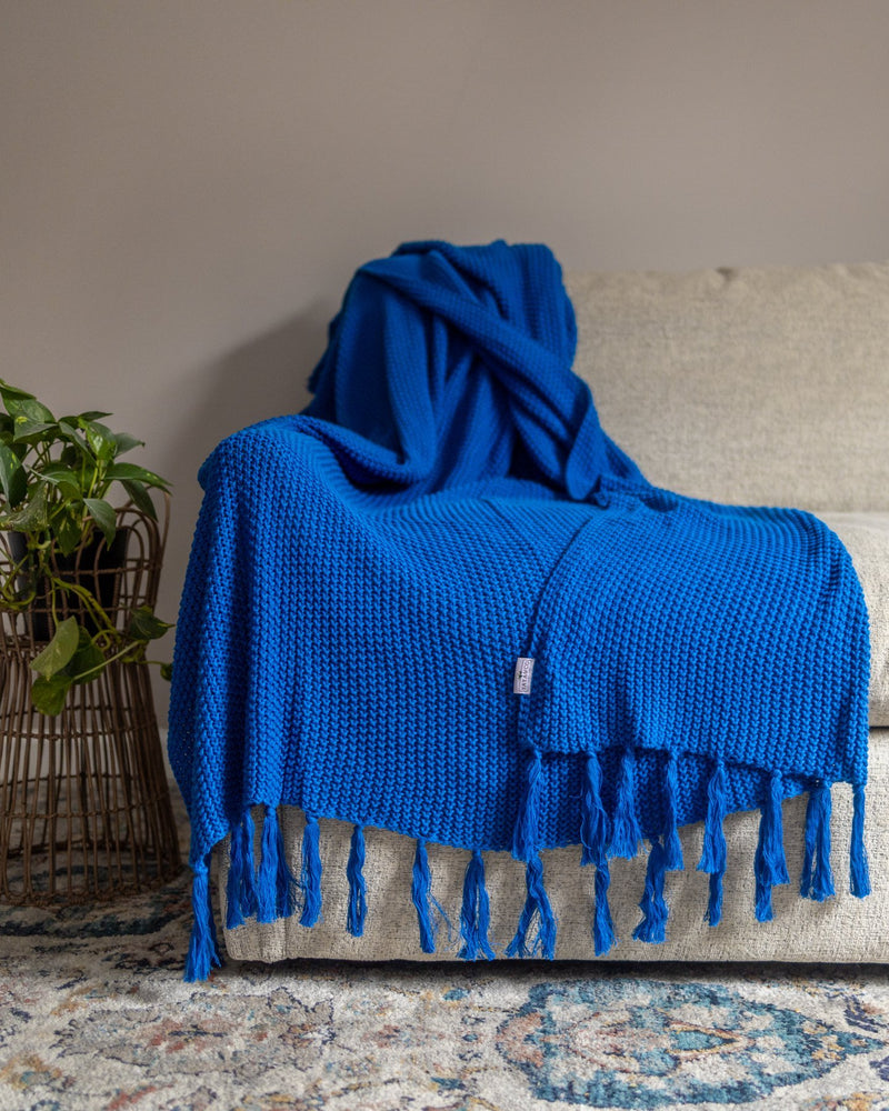 Hallen Organic Cotton Knit Throw Blanket - YaYa & Co.