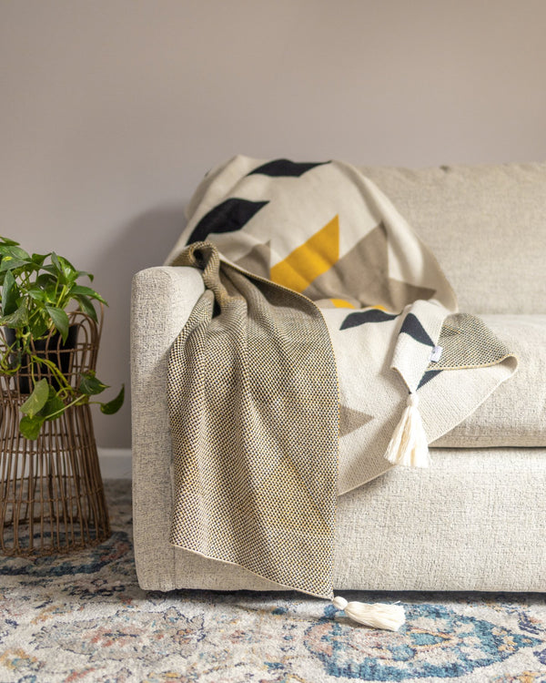 Knox Organic Cotton Boho Knit Throw - YaYa & Co.