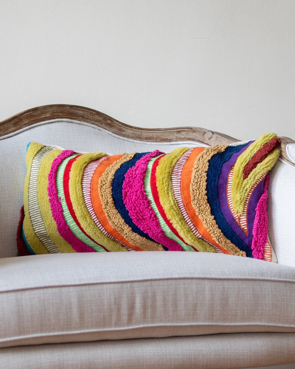 Lula Abstract Lumbar Throw Pillow - YaYa & Co.