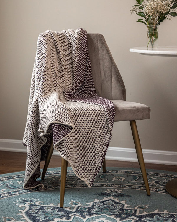Quinn Reversible Knitted Cotton Throw - YaYa & Co.