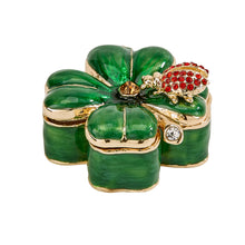 Load image into Gallery viewer, 4 Leaf Clover Trinket Box
