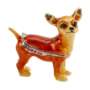 Standing Dog Trinket Box