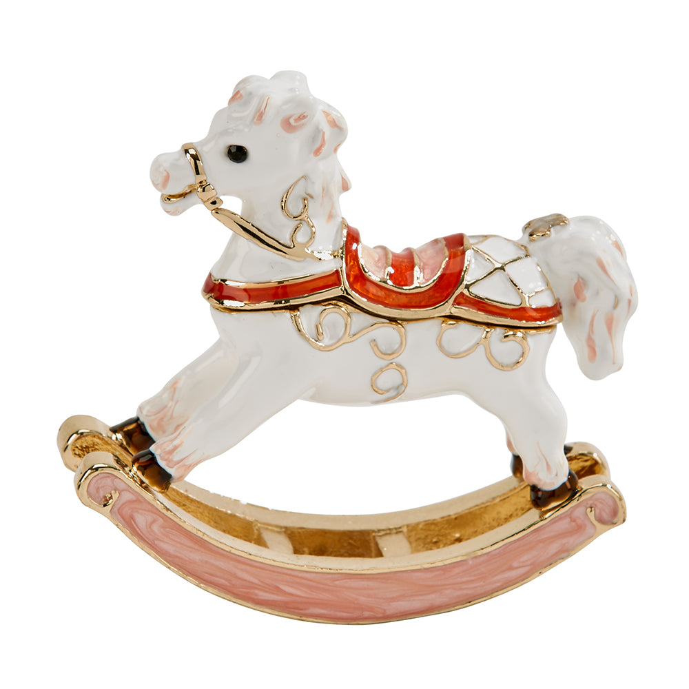White Rocking Horse Trinket Box